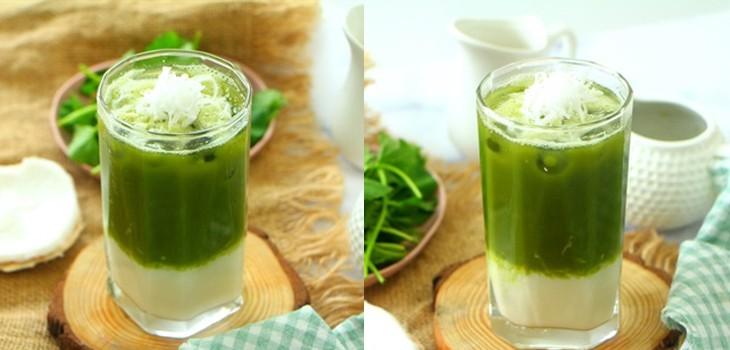 Nước rau má đậu xanh thức uống giải khát mùa hè