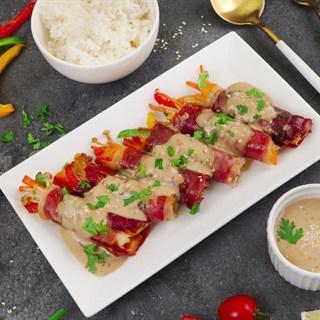 Cách Làm Thịt Nguội Serrano Cuộn Nước Sốt Mè Rang | Thơm Ngon Lạ Miệng